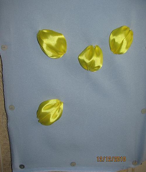 Вышивка лентами тюльпаны для начинающих