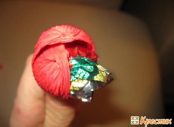Тюльпаны из конфет своими руками