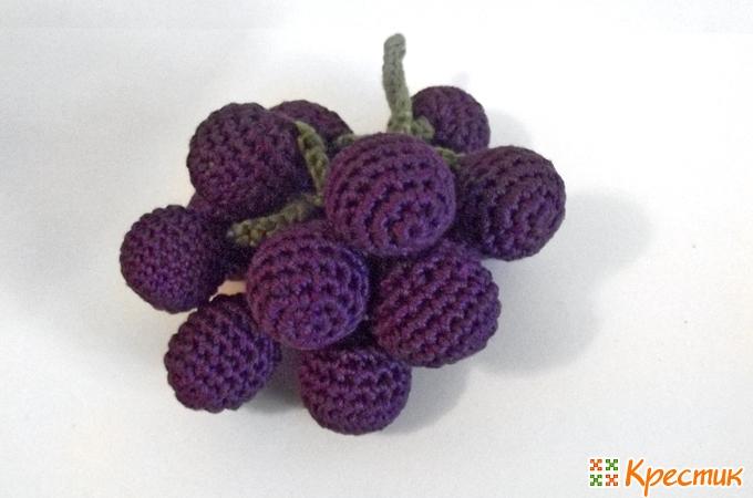 Как связать гроздь винограда