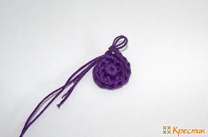 Вязание круга крючком