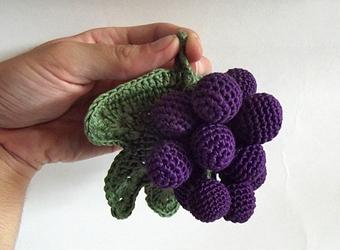 Вязание винограда крючком