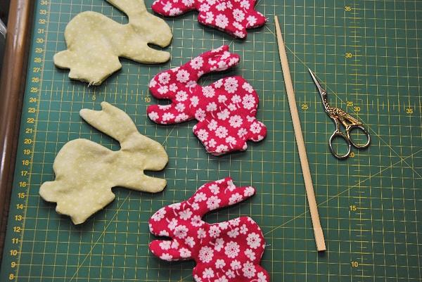 Кролики из ткани