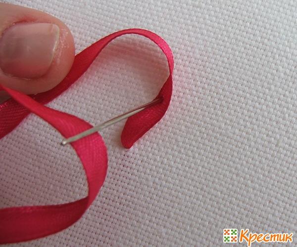 Уроки вышивка лентами