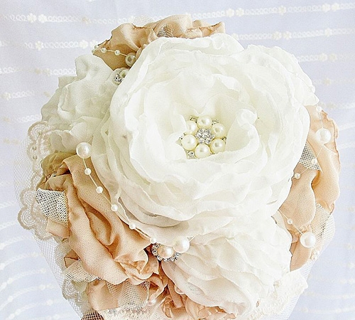 Цветок из шифона своими руками фото 851
