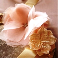 Цветок из шифона своими руками фото 827