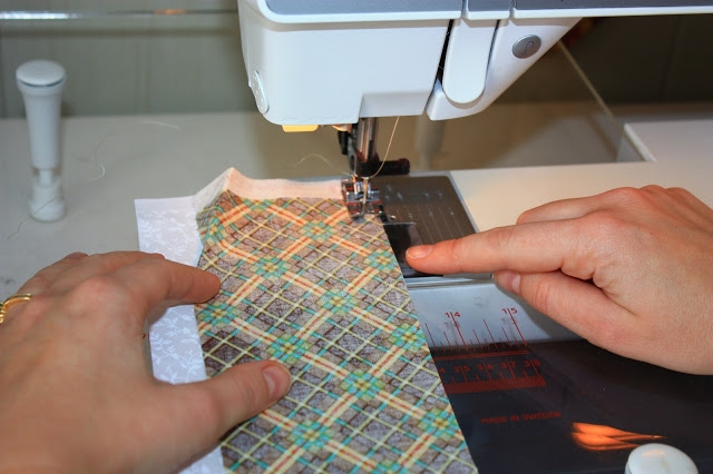Прошиваем 2 полосы ткани