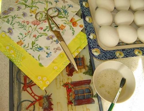 Материалы для декупажа яйца