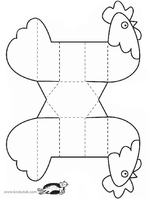 Простые и уютные поделки к Пасхе своими руками: курочка-подставка для яичка, Крестик