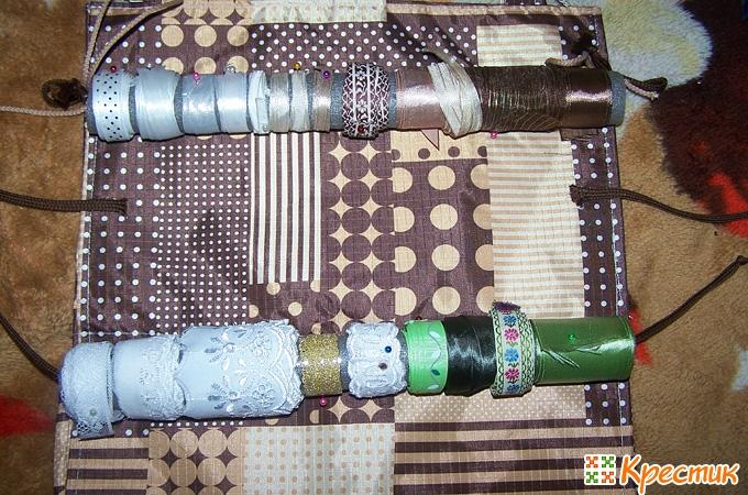 Примеряем трубочки к органайзеру