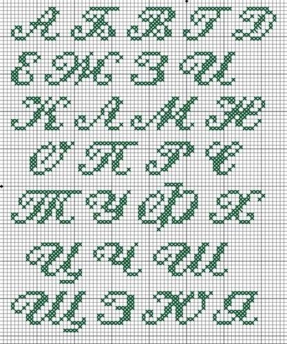 Схемы прописных букв