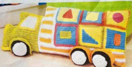 Схема вязания подушки-машинки