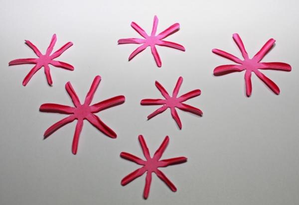 Бумажные цветы сохнут