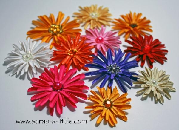 Объемные бумажные цветы своими руками