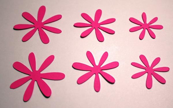 Заготовки в виде цветов
