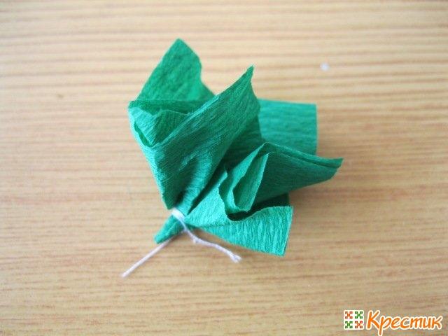 Лист розы на топиарий