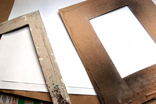 Мастер-класс по созданию фактурной рамки для фото своими руками, Крестик