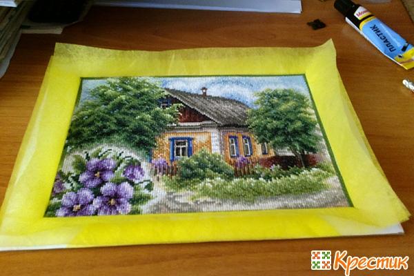 Как оформить вышивку с паспарту