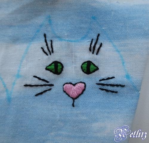 Вышиваем мордочку кота