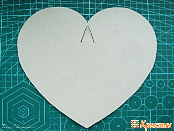 Заготовка ключницы в форме сердца