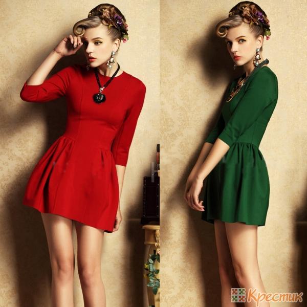 Новогодние платья в ретро стиле