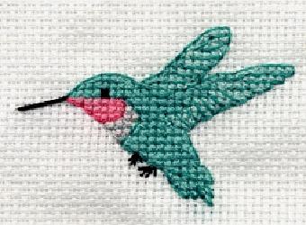 Колибри вышивка крестом