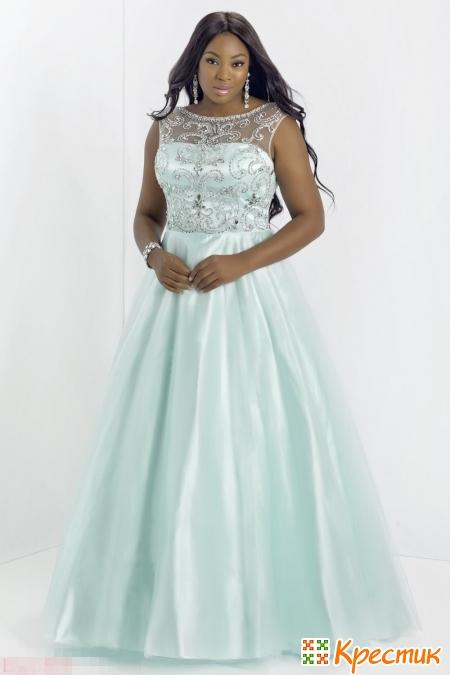 Красивое длинное платье для полных женщин