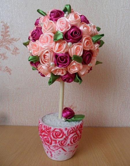 Топиарий из роз своими руками пошагово