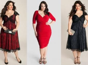 Выбор платьев для полных