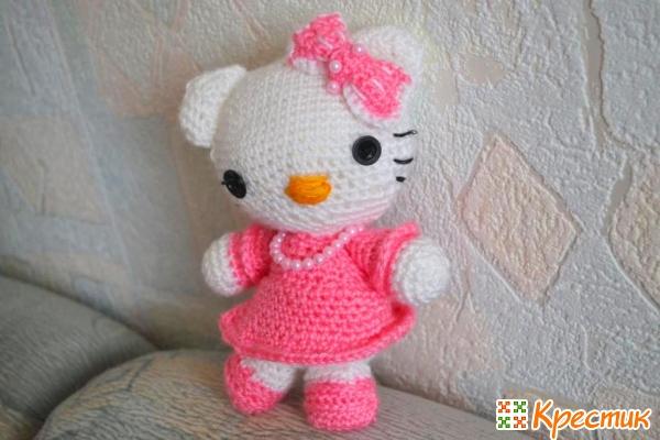 Игрушка амигуруми Hello Kitty