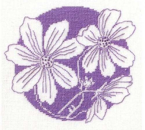 Схема вышивки крестом ассизи