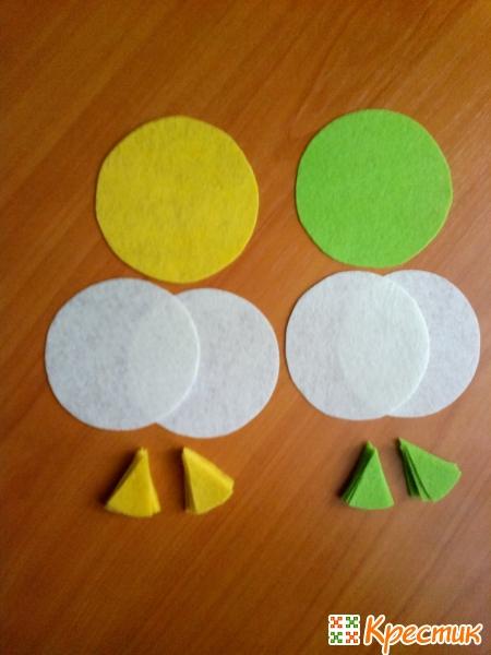 4- Вырезаем лимонные дольки