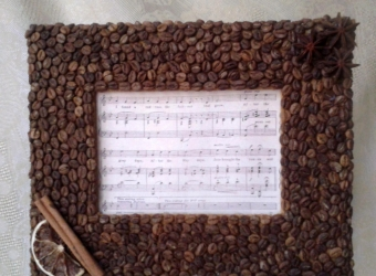 Кофейная рамка для фото и вышивки