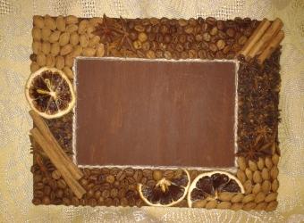 Рамка для фото с пряностями
