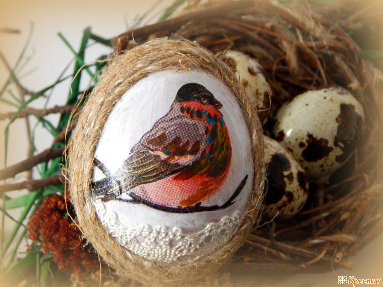 Венок из яиц к пасхе своими руками