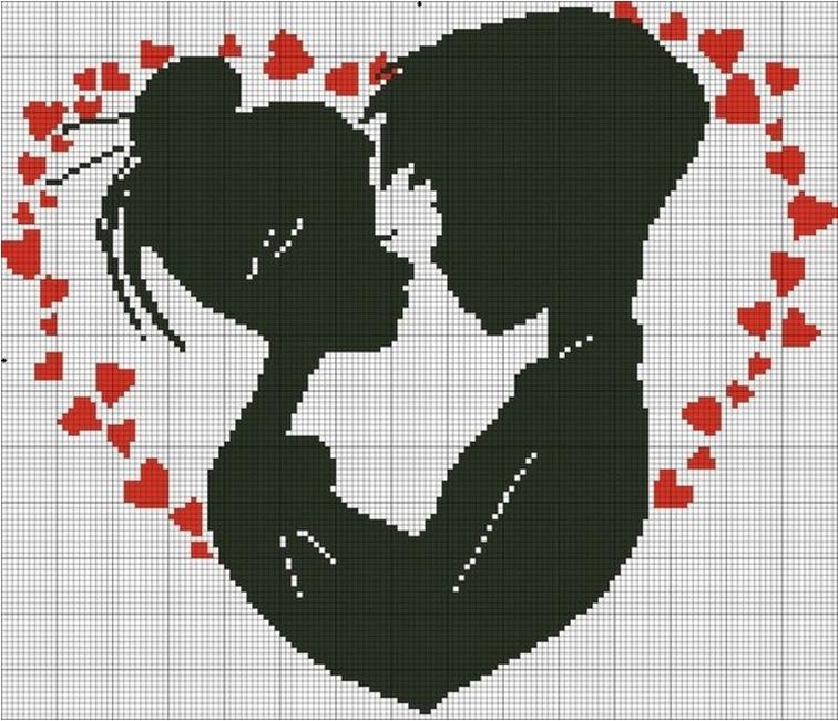 Схемы вышивок романтики