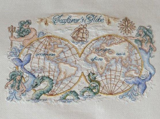 Старинная карта отшив