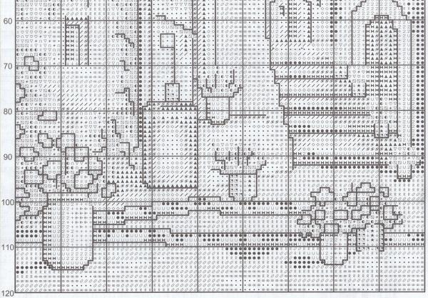 Схема для вышивки улочки