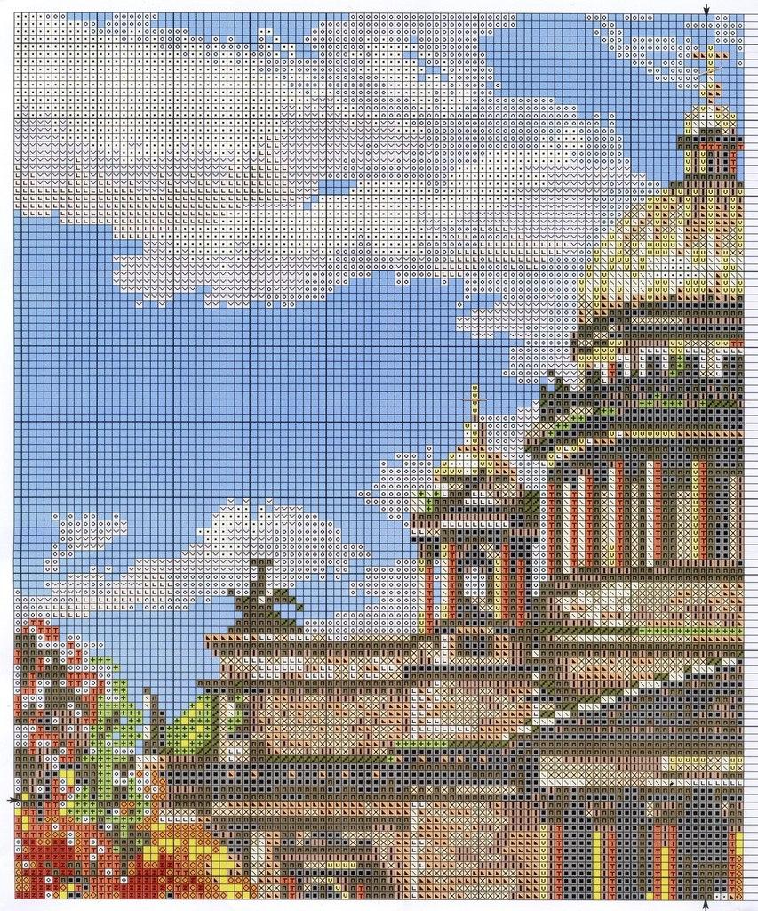 Вышивка мосты санкт-петербурга 68
