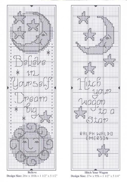 Схема вышивки крестом закладок для книг