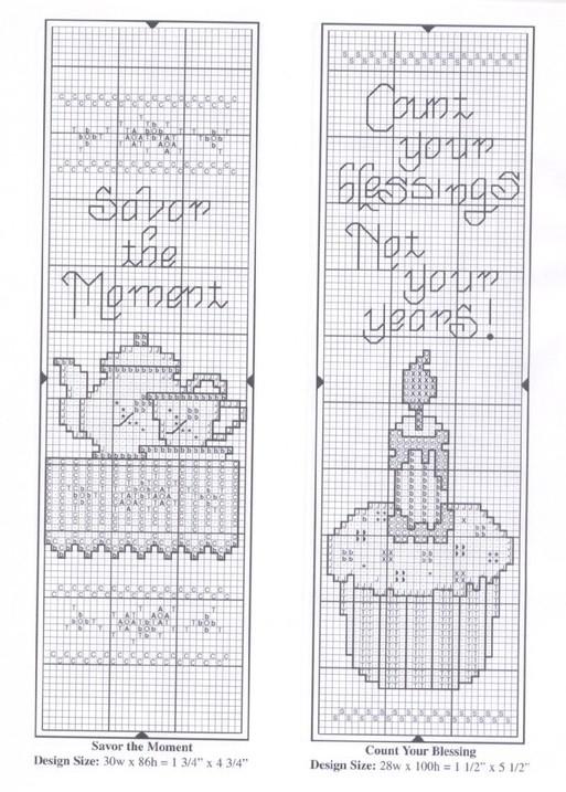 Схема вышивки закладок для книг