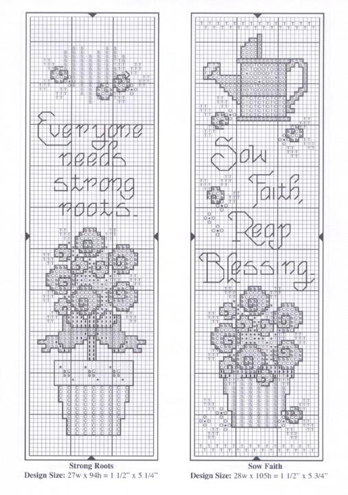 Схема вышивки закладок