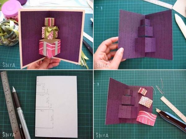 Вариант 3 объемной открытки