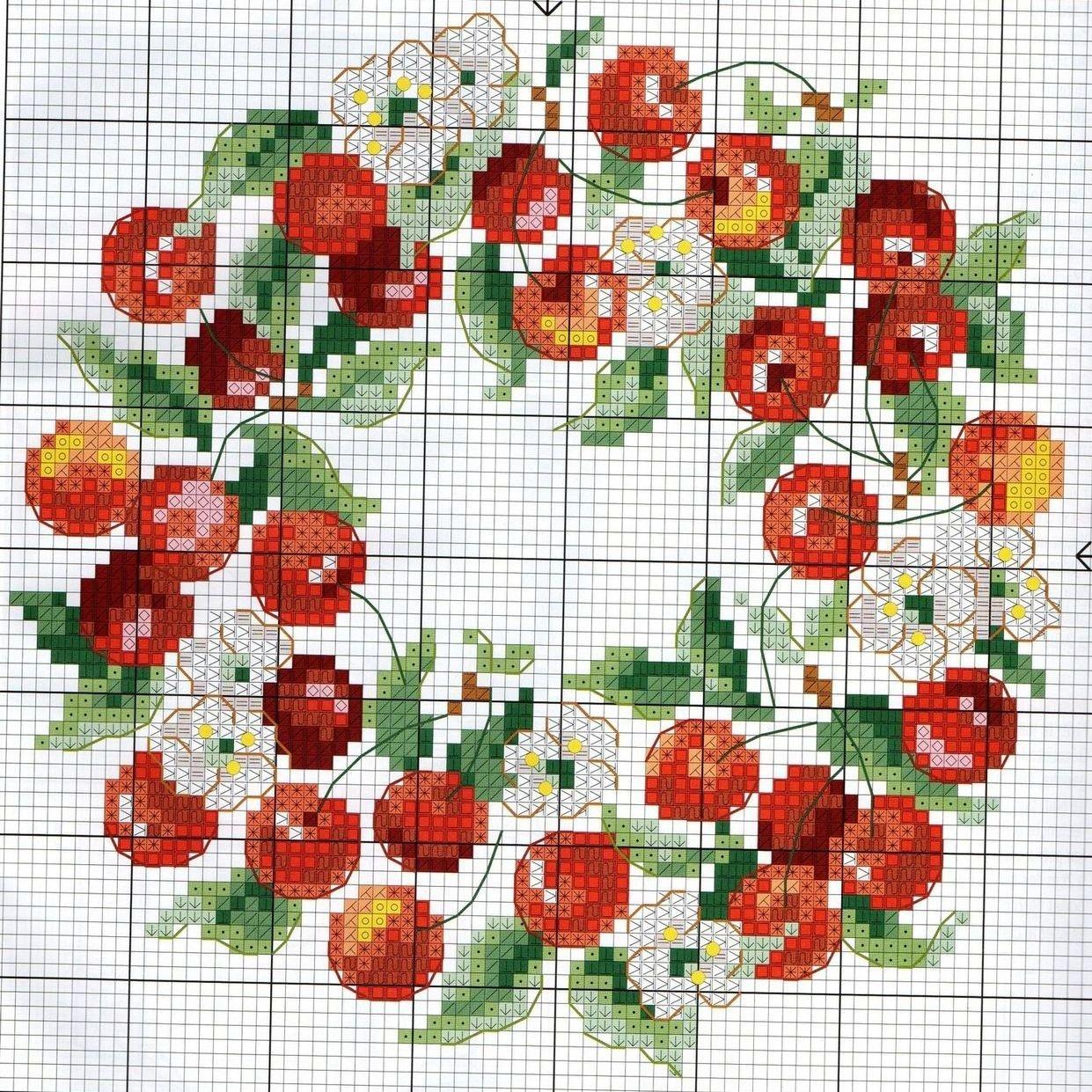 Схемы для вышивки крестом ягоды и фрукты
