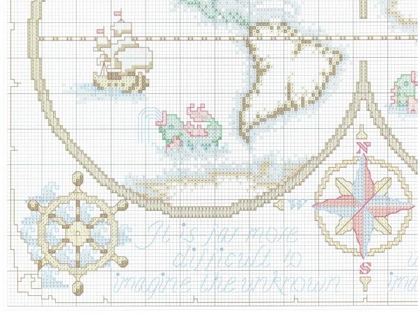 Схема для вышивки карты-сэмплера