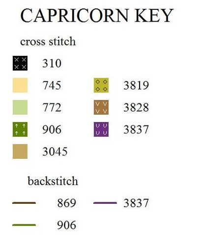 Ключ к схеме вышивки Козерог