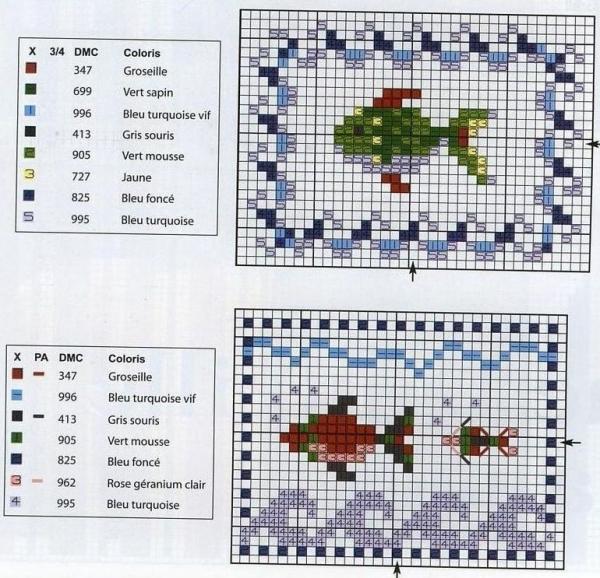 Схема и ключ для вышивки подвесок