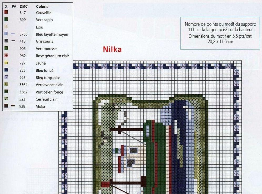 Схема вышивки крестом ключницы
