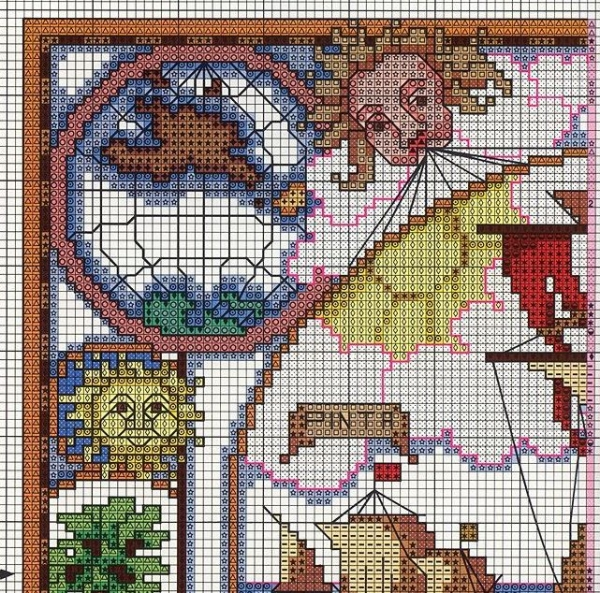 Схема вышивки крестом путешествия Колумба