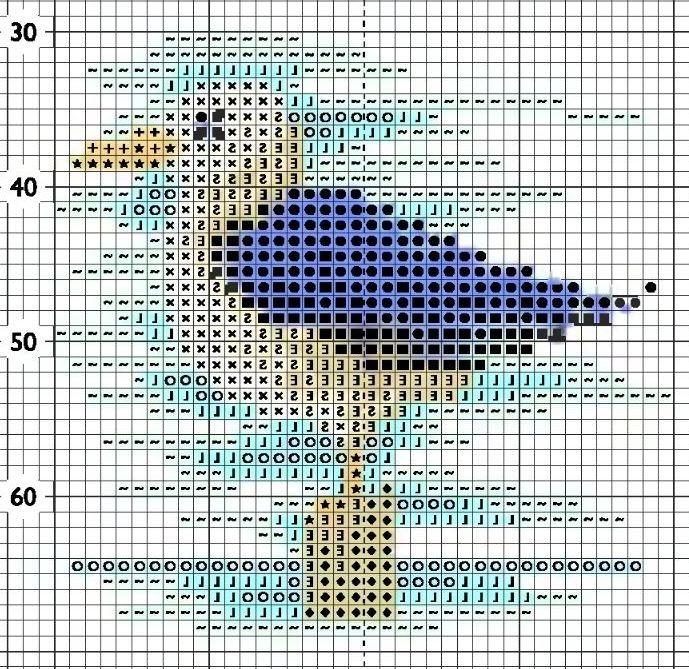 Схема вышивки морской чайки