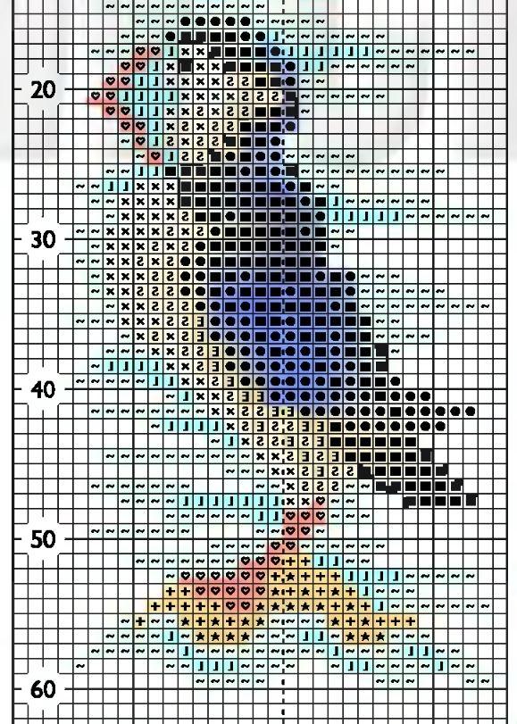 Схема вышивки морской птички